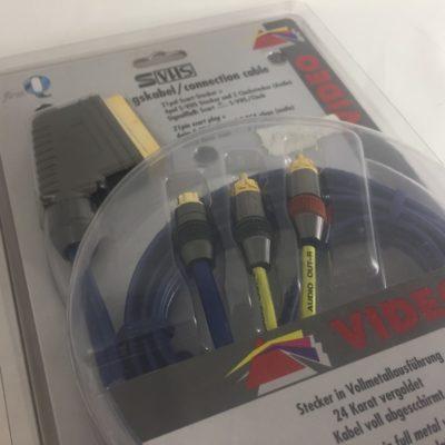 e+p VC 885 Verbindungskabel Scart Stecker auf S-VHS und 2 x Chinch Audio