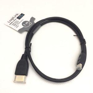 LogiLink® Kabel HDMI (Typ-A) auf Micro-HDMI (Typ-D), 1 Meter
